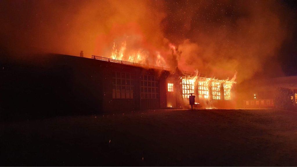 Boo Folkets Hus i brand